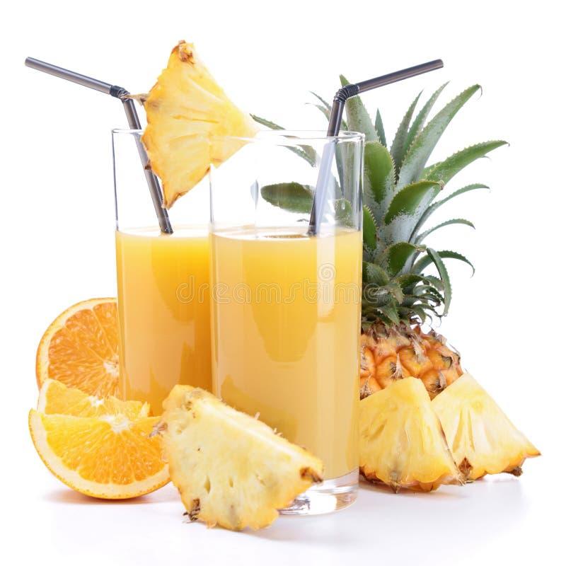 Fruktfruktsaft fotografering för bildbyråer