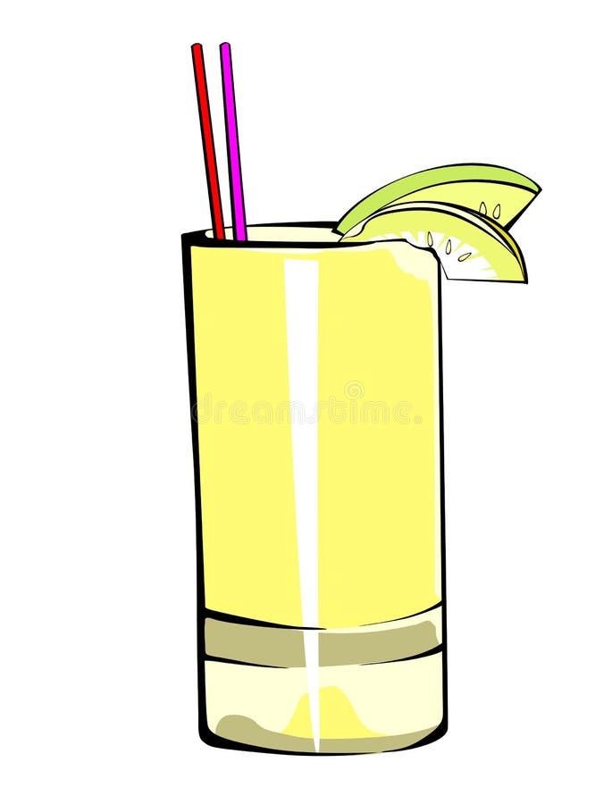 Fruktfruktsaft royaltyfri illustrationer
