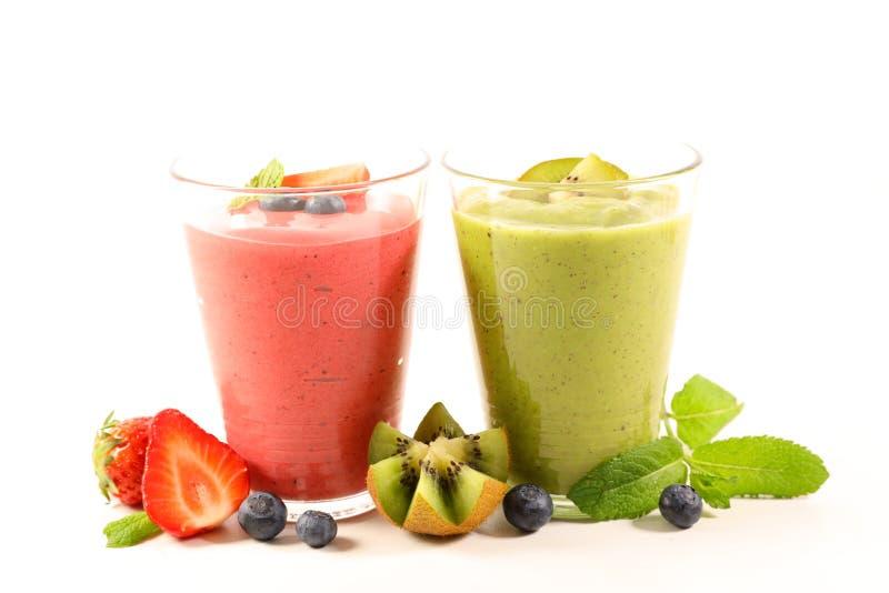 Fruktfruktsaft, smoothie fotografering för bildbyråer