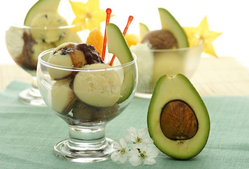 Fruktglasskotte royaltyfria bilder