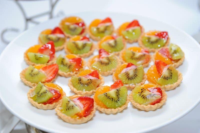 Fruktkaka arkivfoto