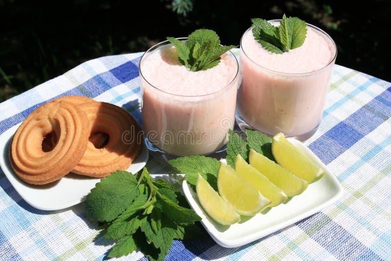 fruktmilkshake arkivfoton