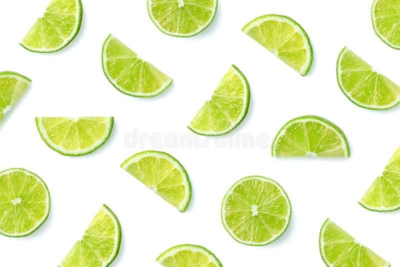 Fruktmodell av limefruktskivor arkivbilder