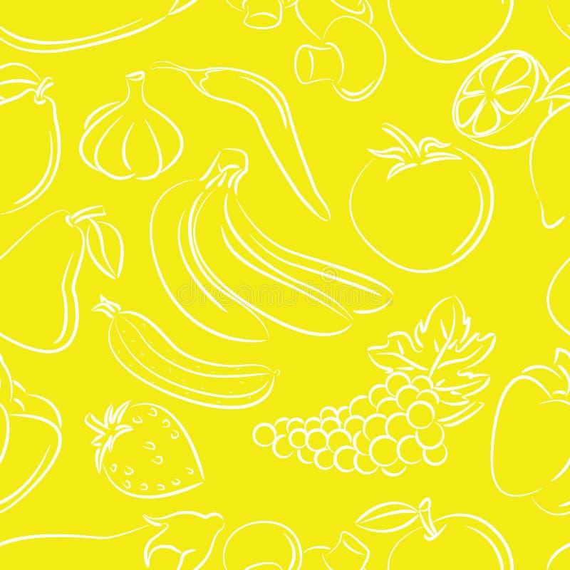 fruktmodellgrönsaker vektor illustrationer