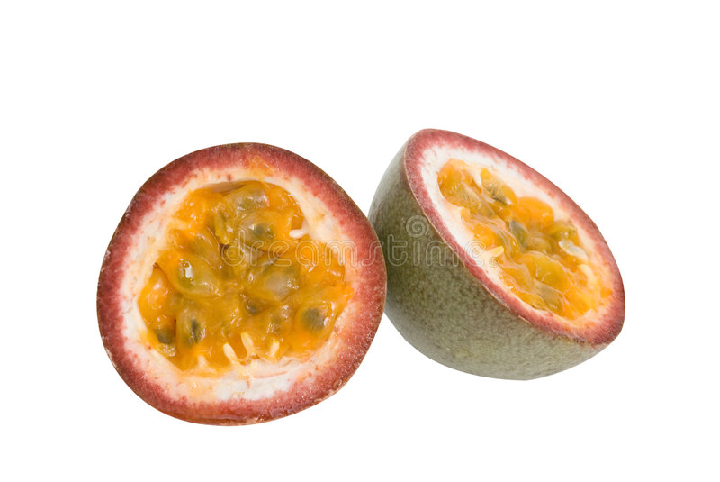 fruktpassifloraavsnitt royaltyfria foton