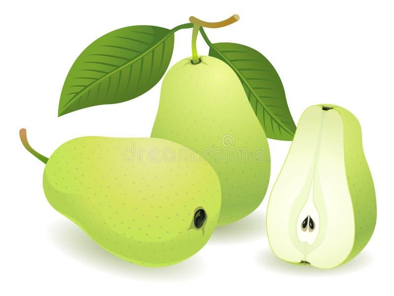 fruktpear stock illustrationer
