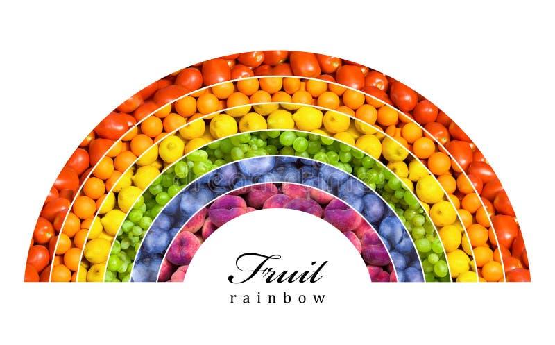 Fruktregnbåge royaltyfri fotografi