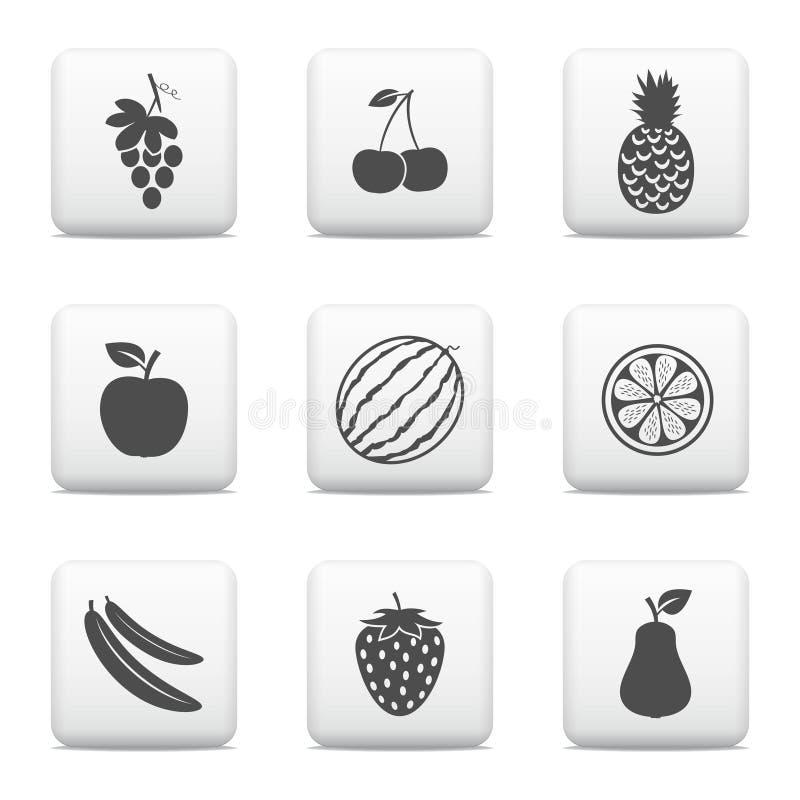 Fruktrengöringsdukknappar stock illustrationer