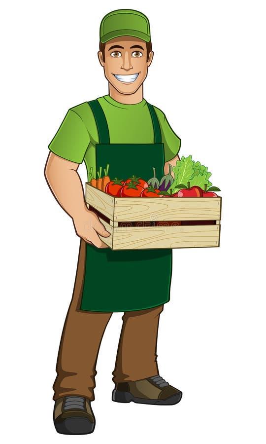 Fruktsäljare royaltyfri illustrationer