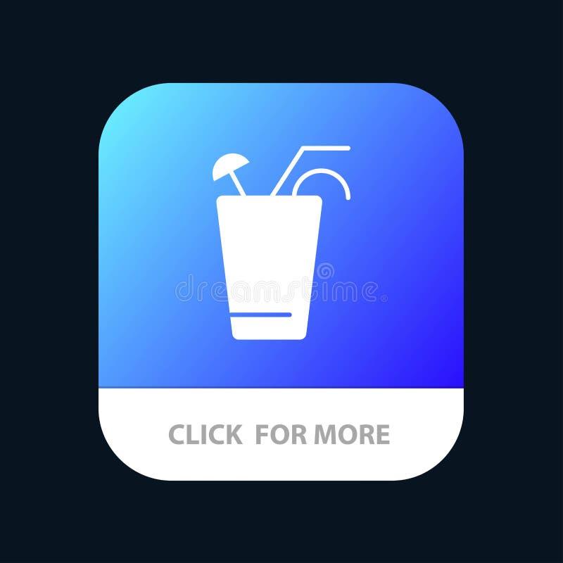 Fruktsaft drink, mat, mobil Appknapp för vår Android och IOS-skåraversion stock illustrationer