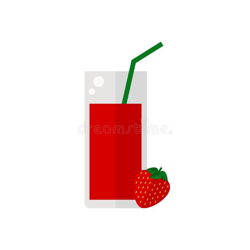 Fruktsaftsymbol stock illustrationer