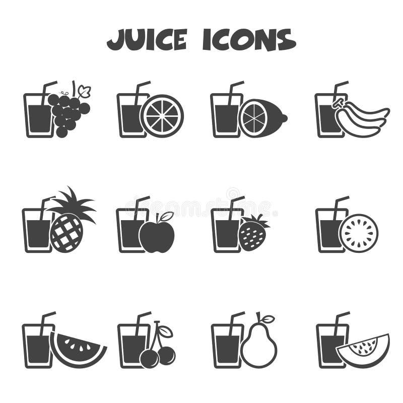 Fruktsaftsymboler stock illustrationer