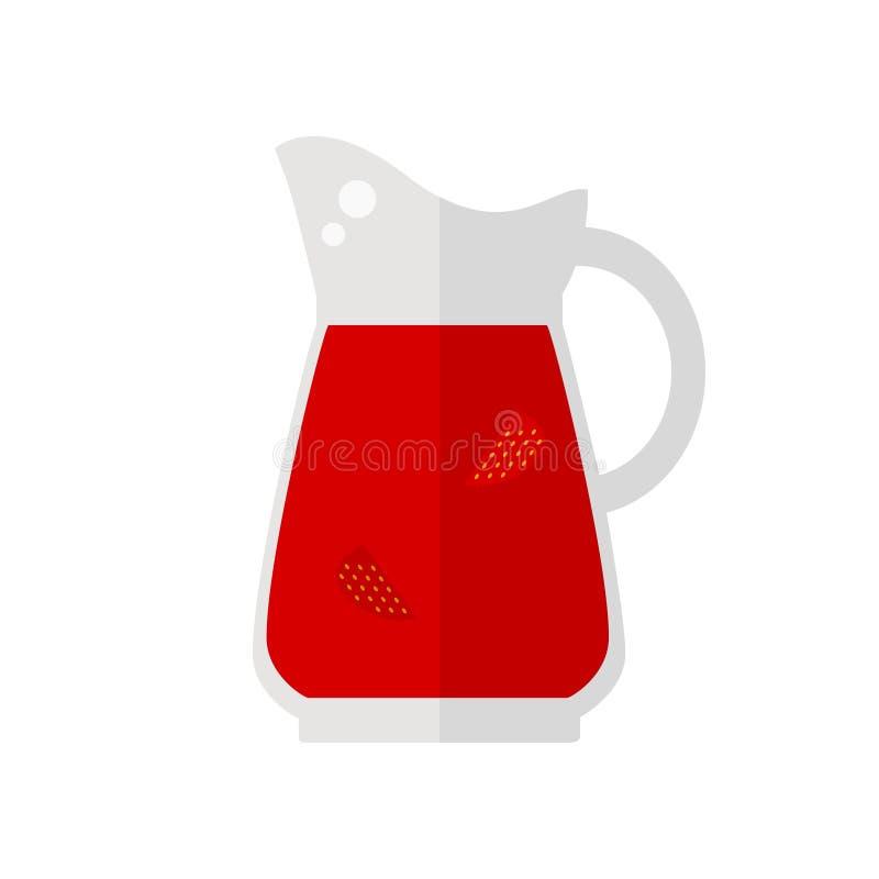 Fruktsafttillbringaresymbol royaltyfri illustrationer