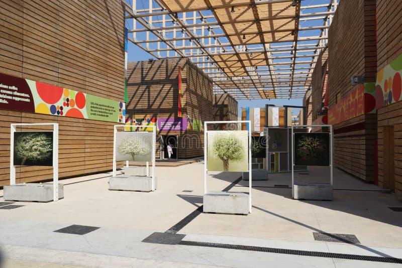 Fruktskidfrukter kryddar paviljongen den Milan, milano expon 2015 royaltyfri bild