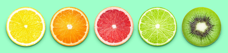 Fruktskivabaner royaltyfri fotografi