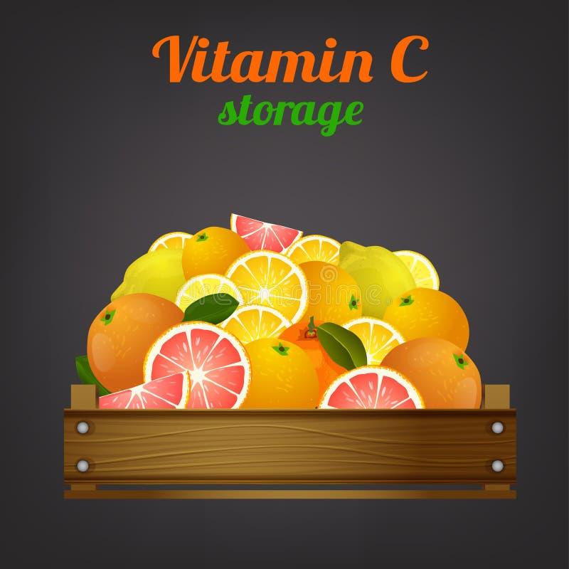 Fruktspjällådabild vektor illustrationer