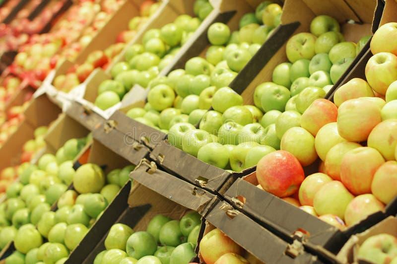 fruktsupermarket arkivfoto