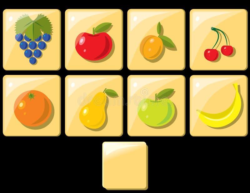 fruktsymboler vektor illustrationer