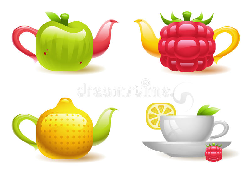 Fruktte stock illustrationer
