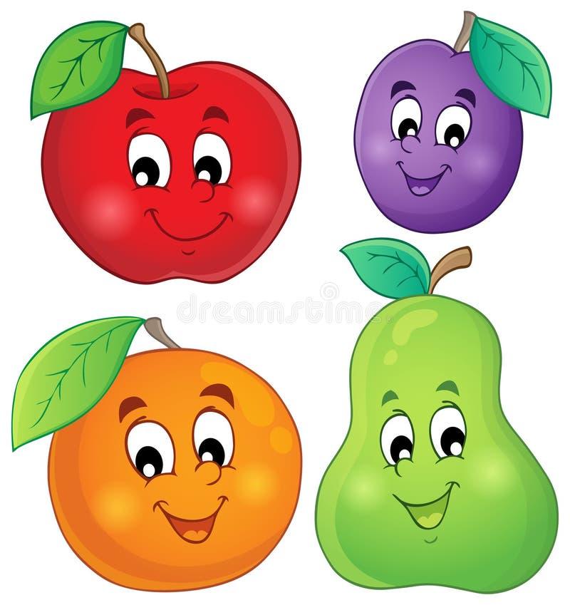Frukttemabild 1 vektor illustrationer
