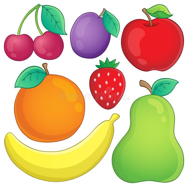 Frukttemabild 3 stock illustrationer