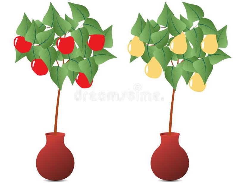 fruktväxt stock illustrationer