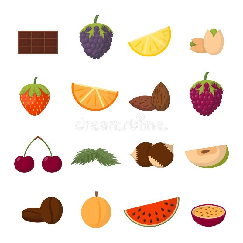 Fruktvektorillustration stock illustrationer