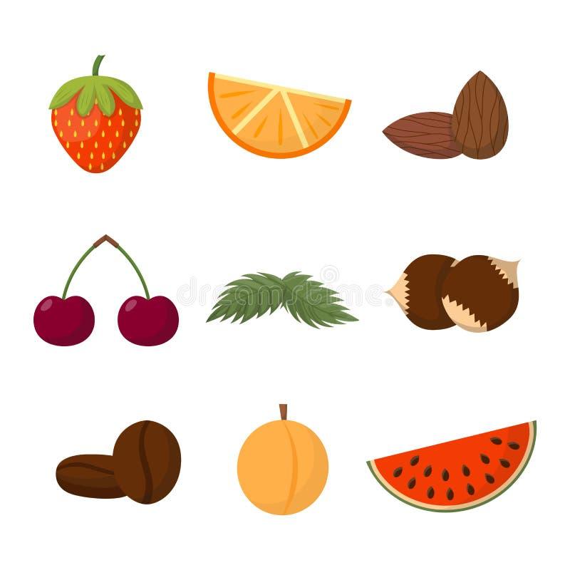 Fruktvektorillustration vektor illustrationer
