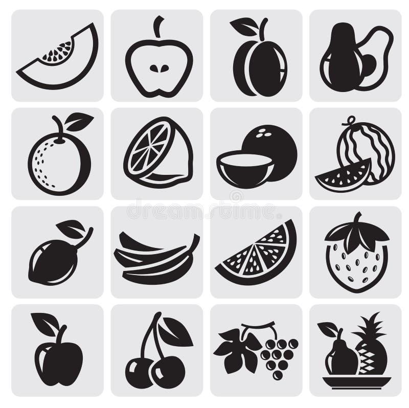 Fruktvektorset royaltyfri illustrationer