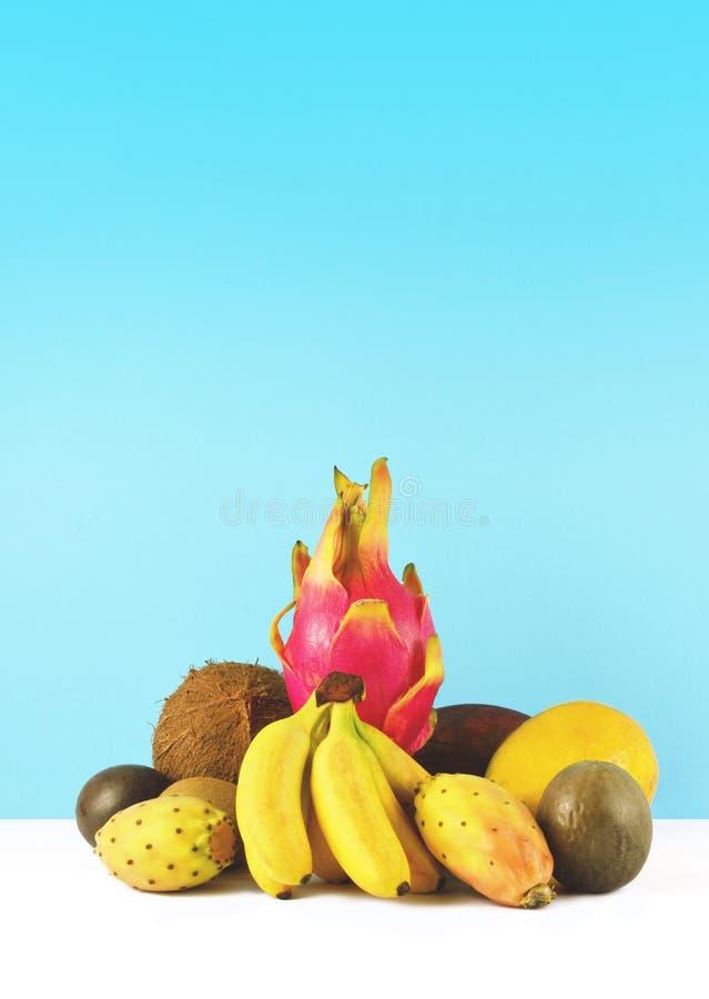 Frullato rosa con i frutti tropicali immagine stock libera da diritti