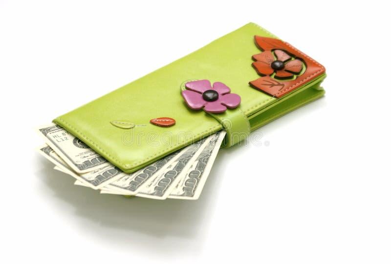 Frunza con el dinero fotografía de archivo