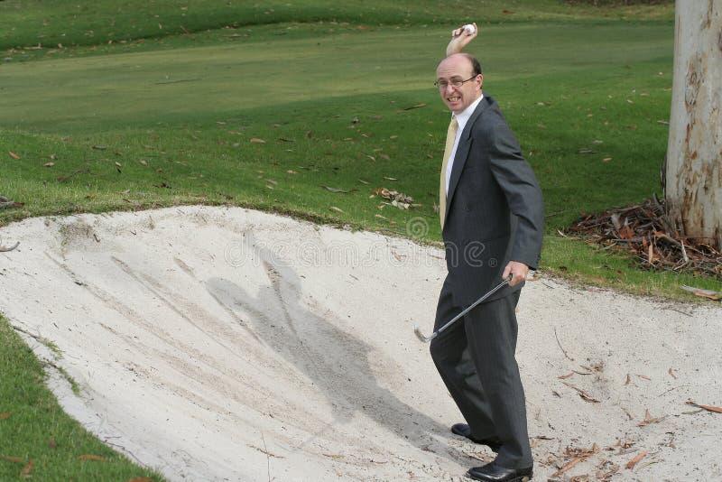 Frustração do golfe fotografia de stock royalty free