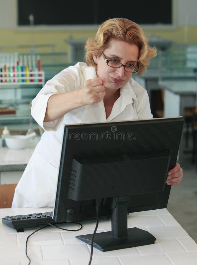 Frustración del ordenador imágenes de archivo libres de regalías