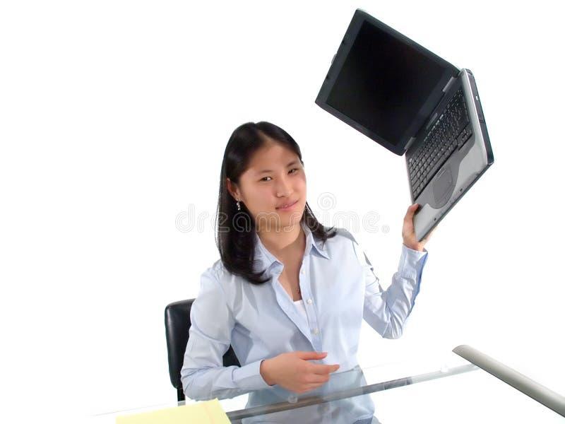 Frustración del ordenador imagen de archivo libre de regalías