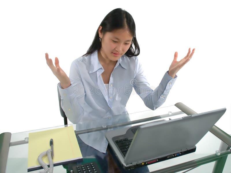 frustracja komputerowa zdjęcie royalty free