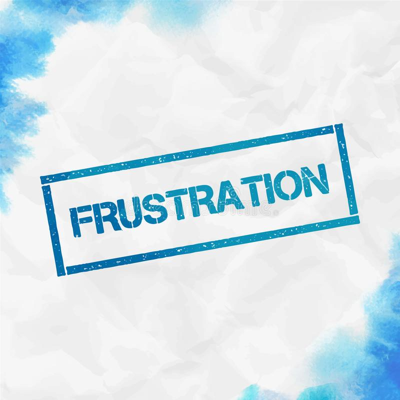 Frustracja prostok?tny znaczek ilustracja wektor
