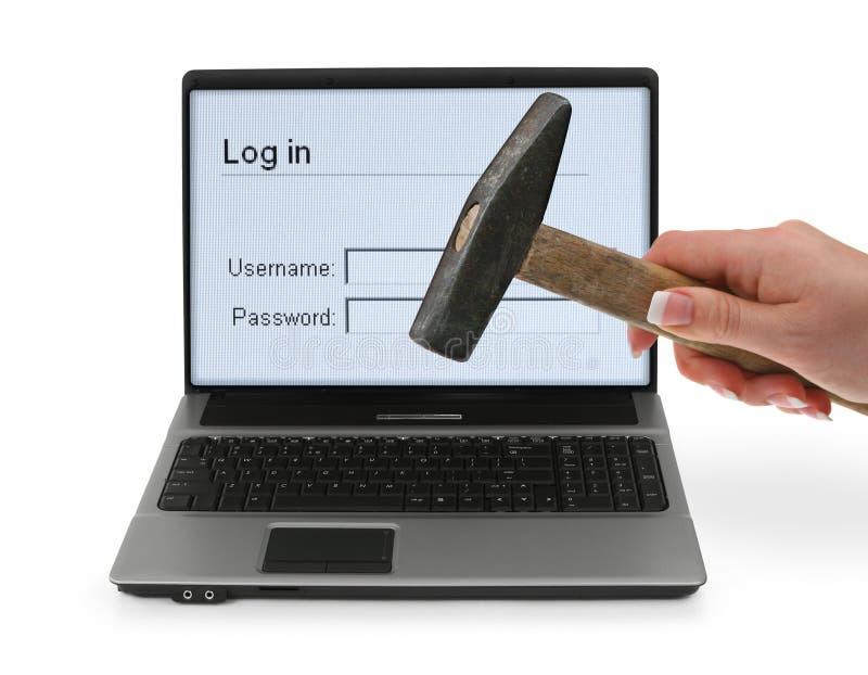 Frustrado con problemas del ordenador imagen de archivo libre de regalías