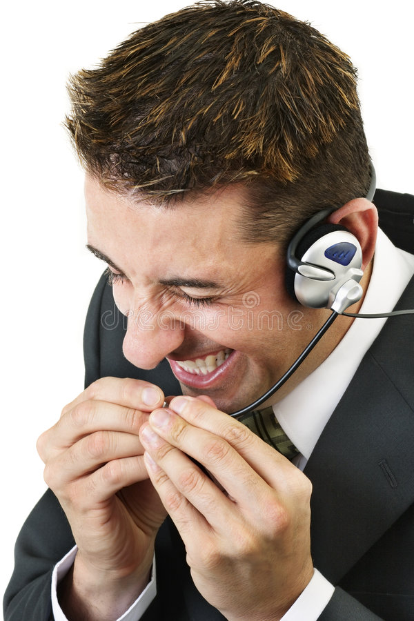 Frustrated. Customer service officer stock image