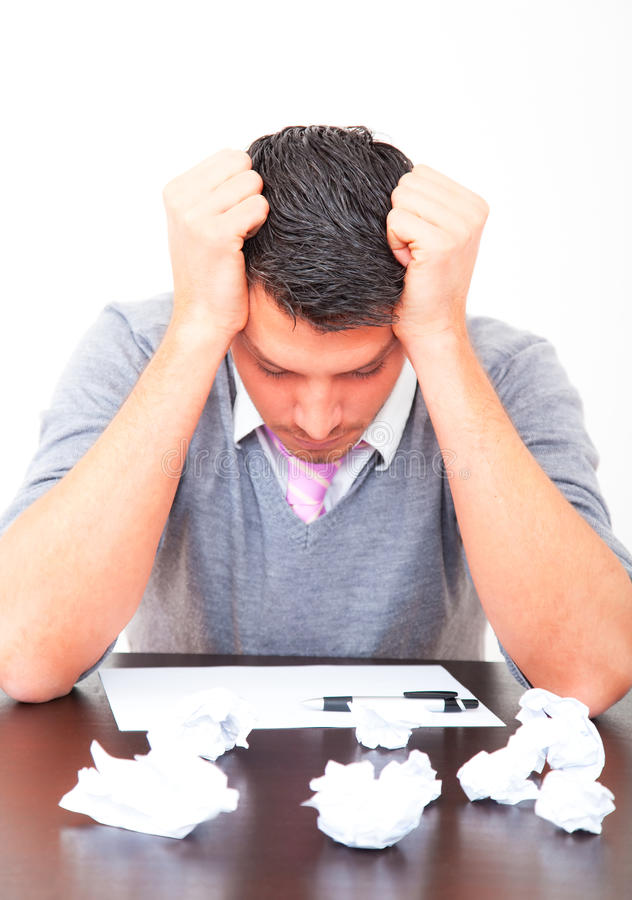Download Frustrated business man stock photo. Image of disappointment - 12306018