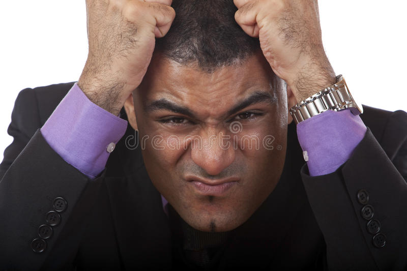Frustrated Businessman is angry royalty free stock images