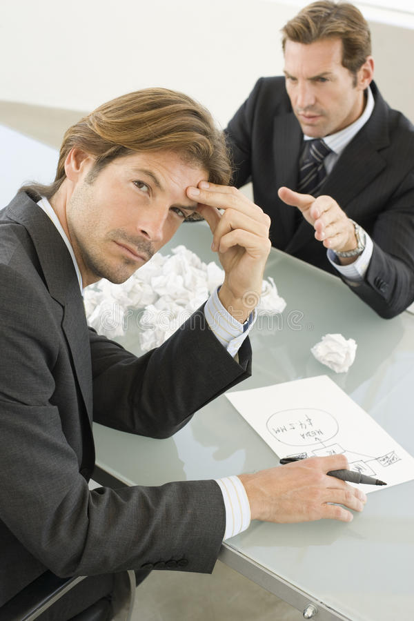 Download Frustrated Businessman With Manager Shouting At Him Stock Image - Image: 31826687