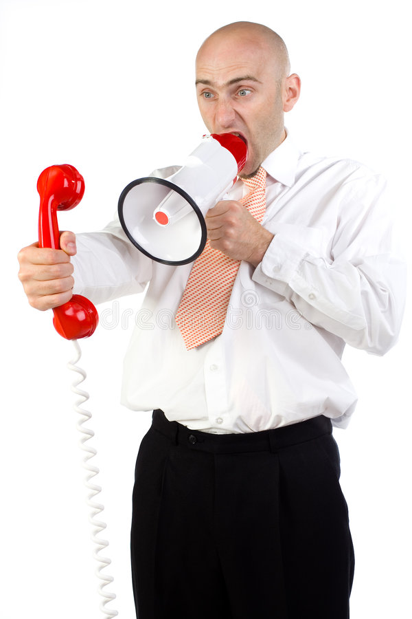 Download Frustrated businessperson stock image. Image of yells - 2931789