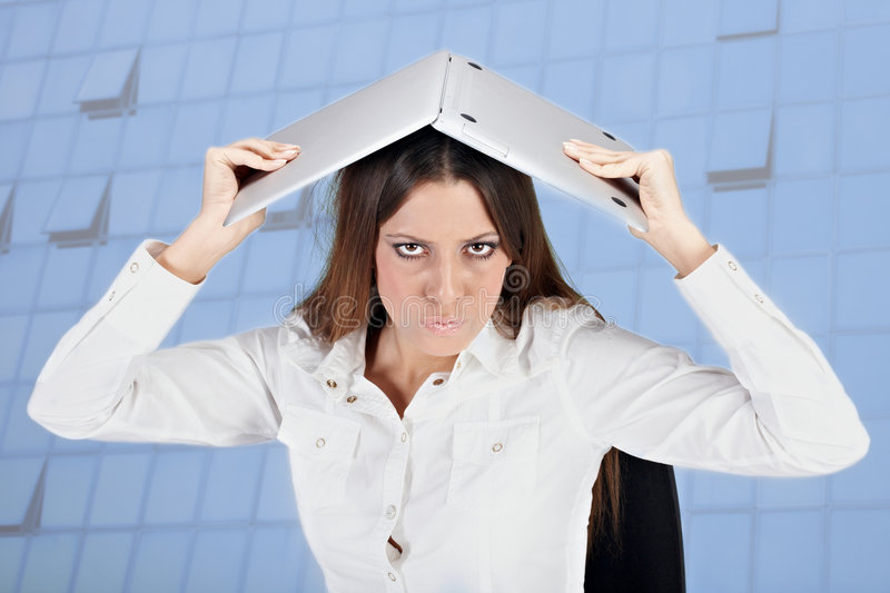 Download Frustrated Businesswoman Stock Image - Image: 7571751