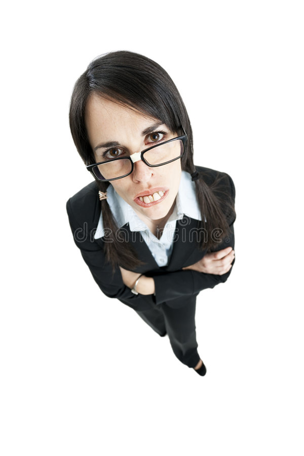 Frustrated businesswoman stock images