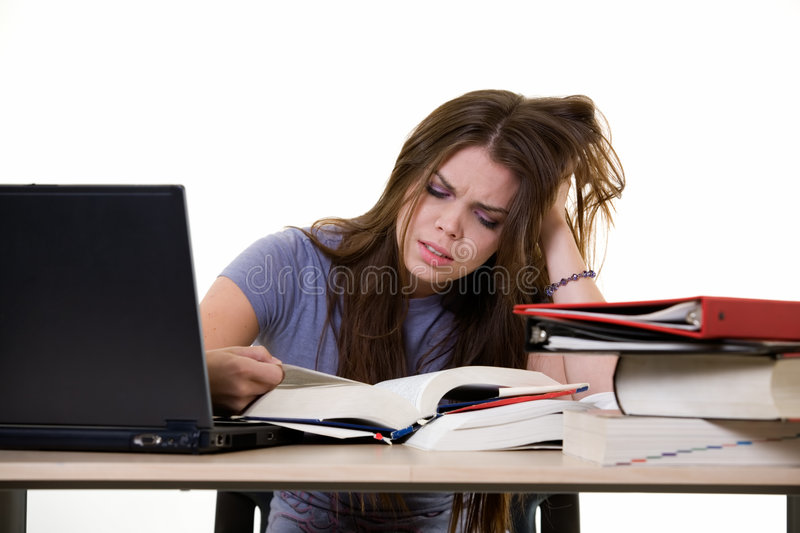 Frustrated college studen stock photos