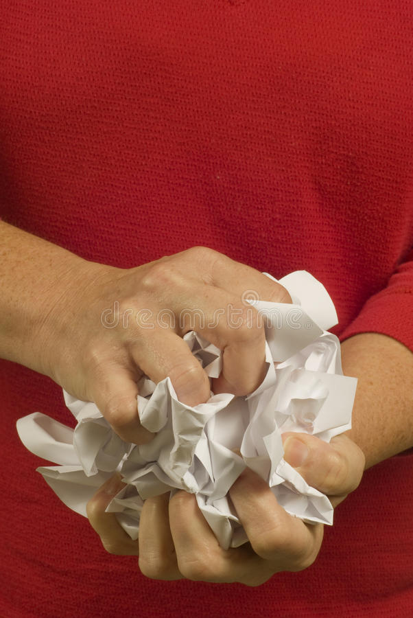 Download Frustrated Crumpling Of Paper Stock Photo - Image: 18785376