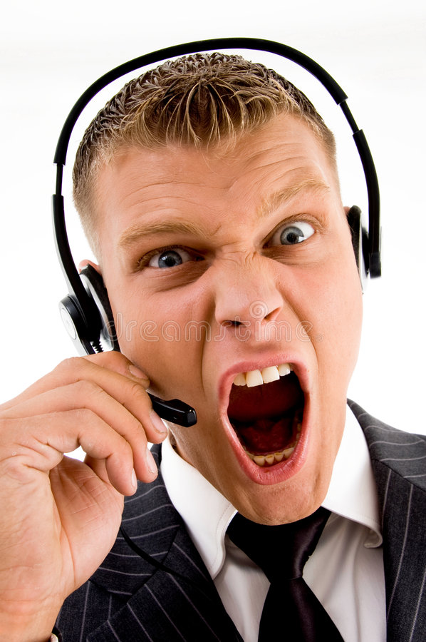Download Frustrated Customer Complaining Stock Photo - Image: 7524664