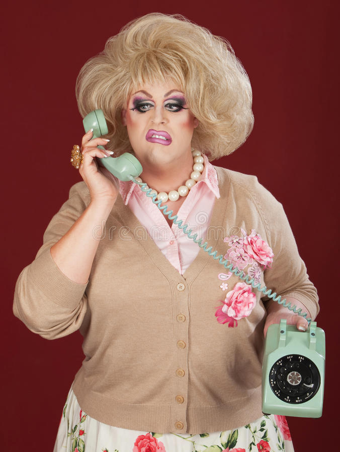 Download Frustrated Drag Queen stock photo. Image of dial, irked - 24252498