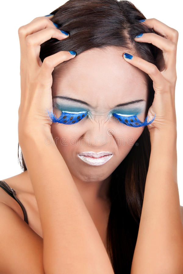 Frustrated female stock images