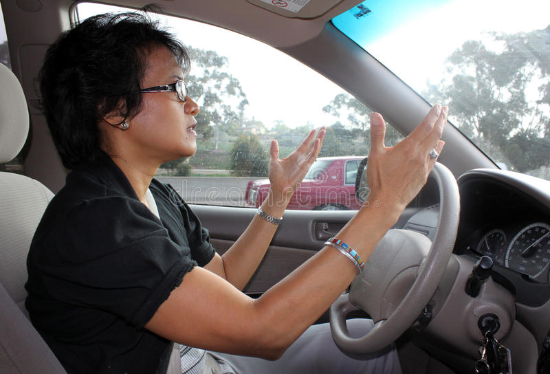 Frustrated Female Driver Royalty Free Stock Image